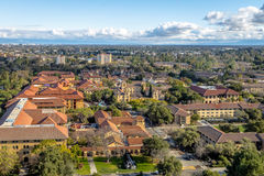 Aerial view of Stanford University Campus - Palo Alto, California, USA. PALO ALTO, USA - January 11, 2017: Aerial view of Stanford University Campus - Palo Alto Stock Photos