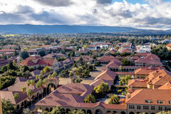 Aerial view of Stanford University Campus - Palo Alto, California, USA Stock Photo