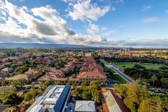 Aerial view of Stanford University Campus - Palo Alto, California, USA. PALO ALTO, USA - January 11, 2017: Aerial view of Stanford University Campus - Palo Alto Royalty Free Stock Photography