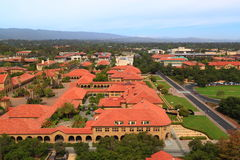 Aerial View Stanford University Campus. With street and Main Quad, Palo Alto, California, USA Royalty Free Stock Image