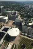 Aerial view of state legislature in Albany, New York. An Aerial view of state legislature in Albany, New York Stock Photo