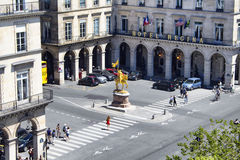 Aerial view of statue Jeanne D'Arc Stock Images