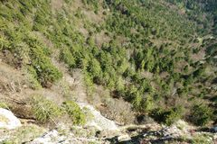 Aerial View Of steep Cliff Royalty Free Stock Images