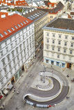 Aerial view of The Stephansplatz in Vienna, Austria. Royalty Free Stock Image