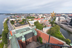 The aerial view of the Stockholm Stock Photos