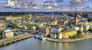 Aerial view of Stockholm. Royalty Free Stock Image