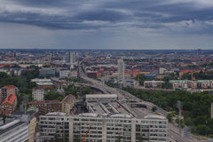 Aerial view of Stockholm captured from Ericsson Globe Stock Image