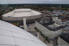 Aerial view of Stockholm captured from Ericsson Globe Stock Images