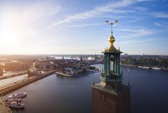 Aerial view of Stockholm City royalty free stock images