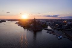 Aerial view of Stockholm City royalty free stock image