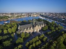 Aerial view of Stockholm City Royalty Free Stock Photo