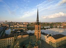 Aerial view of Stockholm City Stock Photos