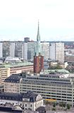 Aerial view of the Stockholm City Sweden Stock Images