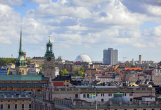 Aerial view. Stockholm Royalty Free Stock Images