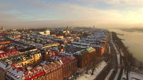Aerial view. Stockholm city stock footage