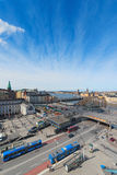 Aerial view of Stockholm and Slussen from Katarina Elevator Stock Images