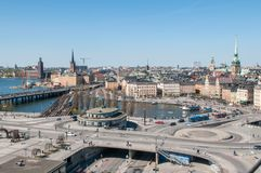 Aerial view of Stockholm Stock Images