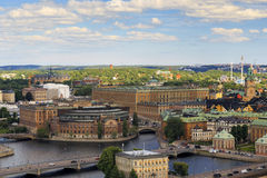 Aerial view of Stockholm, Sweden Royalty Free Stock Photos