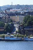 Aerial view of Stockholm, Sweden Royalty Free Stock Image