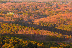 Aerial view from Stone Mountain, USA Royalty Free Stock Photography