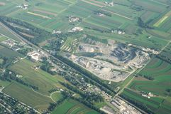 Stone Quarry from Above Royalty Free Stock Photos