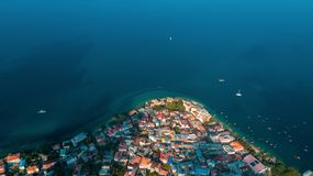 Aerial view of the historical stone town in Zanzibar. Aerial view of the stone town in Zanzibar stock images