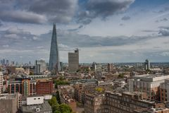 Aerial view of 95-story skyscraper The Shard  in London Royalty Free Stock Photo