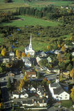 Aerial view of Stowe, VT in Autumn on Scenic Route 100 Royalty Free Stock Image