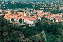 Aerial view of Strahov Monastery, Prague, Czechia Royalty Free Stock Photo