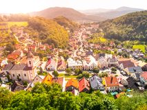 Aerial view of Stramberk, small medieval town in Moravia, Czech Republic Stock Image