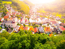 Aerial view of Stramberk, small medieval town in Moravia, Czech Republic Royalty Free Stock Photo