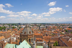 Aerial view from Strasbourg Cathedral Royalty Free Stock Image
