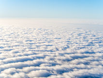 Aerial view of stratocumulus clouds Stock Photos