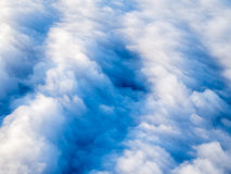 Aerial view of stratocumulus clouds, top down perspective. Royalty Free Stock Images