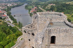 Aerial view from Strecno castle, Slovakia Royalty Free Stock Images