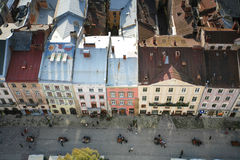 Aerial view of street Stock Images