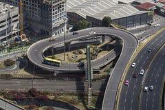 Aerial view of street loop stock image