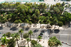 Aerial view on street Royalty Free Stock Photography