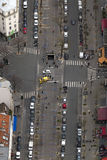 Aerial view of street in paris Royalty Free Stock Image