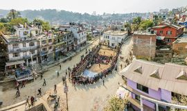 Kathmandu Street Show Royalty Free Stock Photos