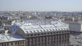 Aerial view of the streets and buildings of St. Petersburg stock video