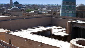 Aerial view on streets of the old city. Uzbekistan. Khiva. stock video