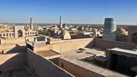 Aerial view on streets of the old city. Uzbekistan. Khiva. stock footage