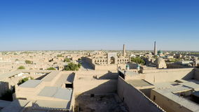 Aerial view on streets of the old city. Uzbekistan. Khiva. Aerial view on streets of the old city. Uzbekistan Khiva stock video footage