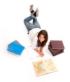 Aerial view of a student Royalty Free Stock Photo