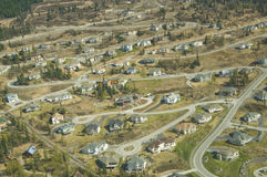 Aerial View of Suburb stock image