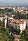 Aerial view of suburb in Bergamo Royalty Free Stock Photography