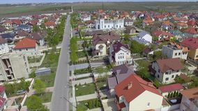 Aerial view of suburban bedroom community in Chisinau, Moldova. stock video