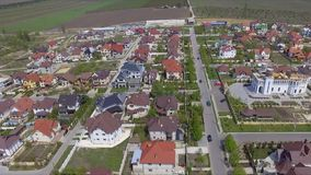 Aerial view of suburban bedroom community in Chisinau, Moldova. stock video footage