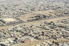 Aerial view suburban Dubai royalty free stock photos